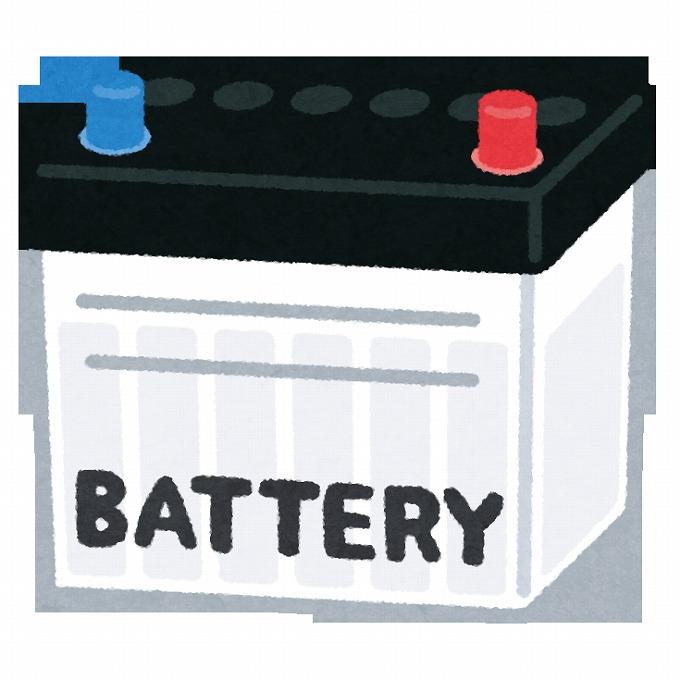 ハリアー バッテリー交換 初期設定 バッテリーイラスト