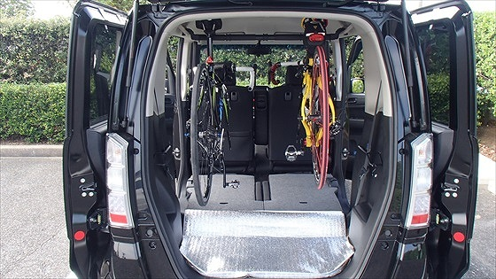 n box 荷室 改造 自転車 インテリアバー