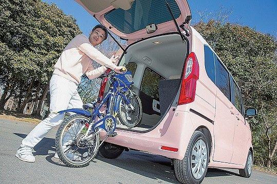 NBOX 自転車の 乗せ方 子供用自転車