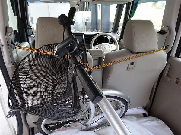 NBOX 自転車の 乗せ方 固定方法