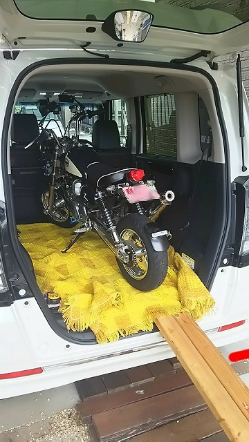 n box バイク 積載 ホンダ モンキー