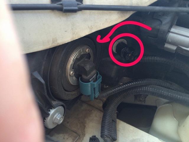 オデッセイrb3 ポジションランプ交換 運転席側ソケット