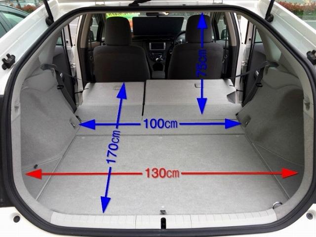 プリウス トランク 開け方 内側 トランク大きさ