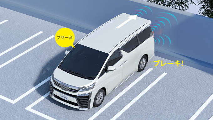ヴェルファイア 高さ 駐車場 インテリジェントクリアランスソナー(パーキングサポートブレーキ)